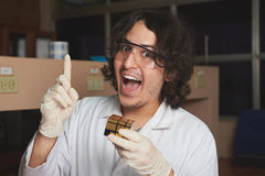 Chemist solved problem Stock Image