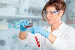 Chemist Student Experiment Stock Photo