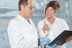 Chemist team discussion Stock Photos