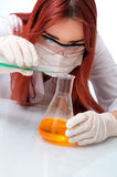 Chemist woman Stock Photo