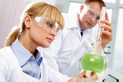 Chemist at work Stock Images