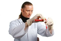Chemist at work. Laboratory. Royalty Free Stock Photography