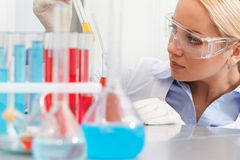 Chemist working Stock Image