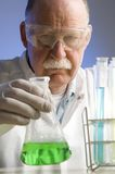 Chemist working with chemicals Stock Photography