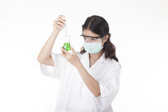 A Chemist. Working isolated in white background Royalty Free Stock Images
