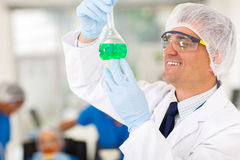 Chemist working lab Stock Photos