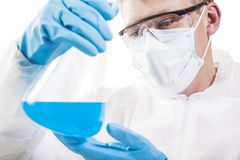 Chemist working in laboratory Royalty Free Stock Photos