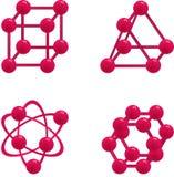 Chemistre de la molécula Stock de ilustración