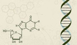 Chemistry. Illustration of a Scientific chemistry with a raster background Stock Photos