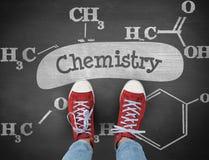 Chemistry against black background Royalty Free Stock Image