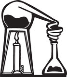 Chemistry Alembic. Woodcut style image of an alchemist's alembic Royalty Free Stock Images