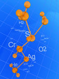 Chemistry background Royalty Free Stock Photography
