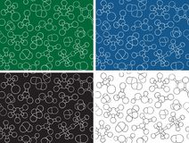 Chemistry background - seamless pattern molecules Stock Image
