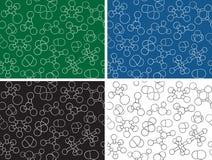 Chemistry background - seamless pattern molecules. Chemistry background - seamless pattern molecule models, hand-drawn illustration Stock Image