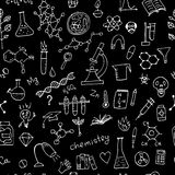 Chemistry background, seamless pattern for your design Royalty Free Stock Image