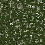 Chemistry background, seamless pattern for your design Stock Photos