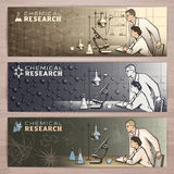Chemistry banner1 Royalty Free Stock Image