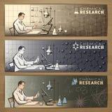 Chemistry banner Stock Images