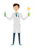 Chemistry Banner Concept Flat Style Royalty Free Stock Photos