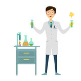 Chemistry Banner Concept Flat Style Stock Photo