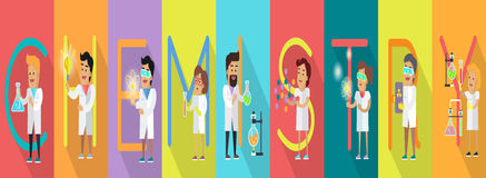 Chemistry Banner. Science Alphabet. Royalty Free Stock Image