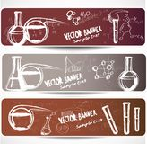 Chemistry banners Royalty Free Stock Images