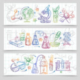 Chemistry Banners Set Stock Image