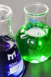 Chemistry beakers Stock Photos
