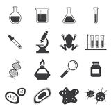 Chemistry and biology icon set Stock Image