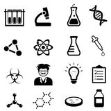 Chemistry, biology science icon set royalty free illustration