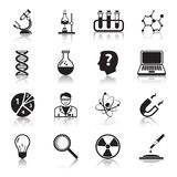 Chemistry or biology science icons set Stock Photography