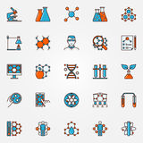 Chemistry and biotechnology icons Stock Photo