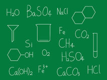 Chemistry  blackboard Stock Photos