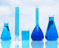 Chemistry bottles Royalty Free Stock Photography