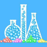 Chemistry bottles Stock Photography