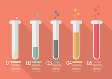 Chemistry Bulb Bar Graph Infographic. Vector Illustration Stock Images