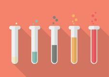 Chemistry Bulb Bar Graph Stock Image