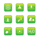 Chemistry Buttons Stock Photo