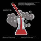 Chemistry, chemical experiment vector poster design Royalty Free Stock Image