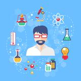 Chemistry concept illustration Royalty Free Stock Photography