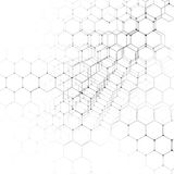 Chemistry 3D pattern, hexagonal molecule structure on white, scientific medical research.  Stock Images