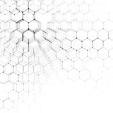 Chemistry 3D pattern, hexagonal molecule structure on white, scientific medical research. Medicine, science and Royalty Free Stock Photography