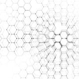 Chemistry 3D pattern, hexagonal molecule structure on white, scientific medical research. Medicine, science and Stock Photos