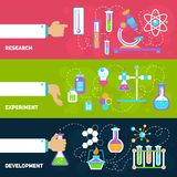 Chemistry design banners Royalty Free Stock Photos