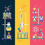 Chemistry design banners Royalty Free Stock Images