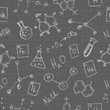 Chemistry doodles seamless pattern Royalty Free Stock Photo