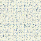 Chemistry doodles seamless pattern Royalty Free Stock Image