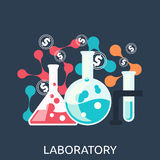 Chemistry Education Research Laboratory Equipment Royalty Free Stock Photography