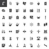 Chemistry elements vector icons set. Modern solid symbol collection, filled style pictogram pack. Signs, logo illustration. Set includes icons as molecule Royalty Free Stock Image