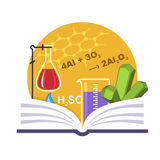 Chemistry Emblem Royalty Free Stock Photos